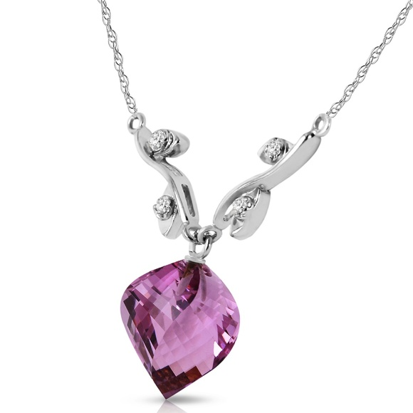 Galaxy Gold Products Jewelry - DIAMONDS AND TWISTED BRIOLETTE AMETHYST